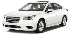 Subaru Legacy fundo branco