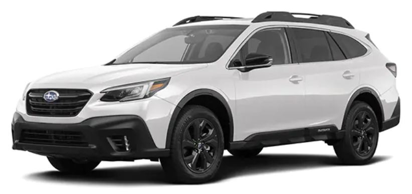 Subaru Outback com fundo branco