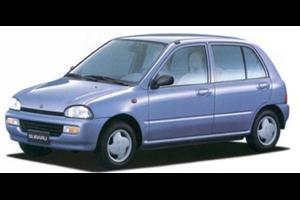 Subaru Vivio com fundo branco