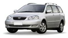 Toyota Fielder com fundo branco