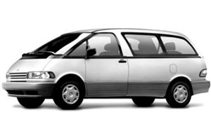 Toyota Previa fundo branco