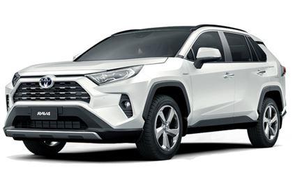 Toyota RAV4 com fundo branco