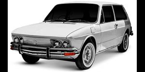 Volkswagen Brasilia fundo branco