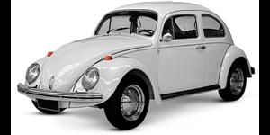 Volkswagen Fusca fundo branco