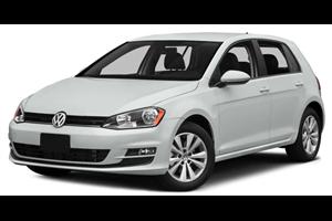 Volkswagen Golf com fundo branco