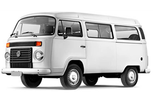 Volkswagen Kombi fundo branco