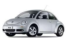Volkswagen New Beetle com fundo branco