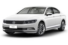 Volkswagen Passat com fundo branco
