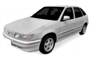 Volkswagen Pointer com fundo branco