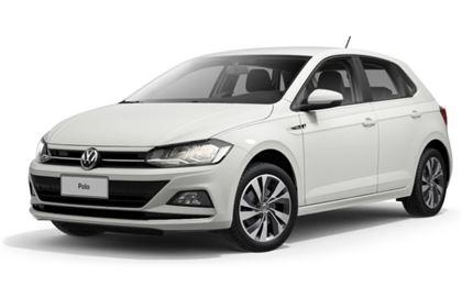 Volkswagen Polo com fundo branco