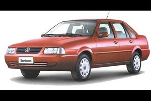 Volkswagen Santana fundo branco