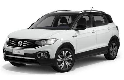 Volkswagen T-Cross com fundo branco