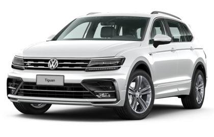 Volkswagen Tiguan com fundo branco