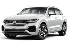 Volkswagen Touareg com fundo branco