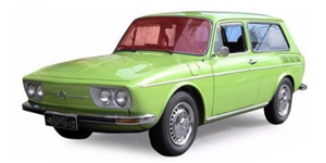 Volkswagen Variant fundo branco