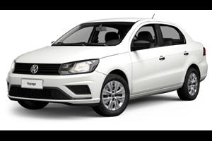 Volkswagen Voyage com fundo branco